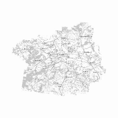 Základní mapa MTVU - černobílá