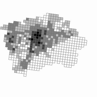 Imise - pětileté průměry v síti 1 x 1 km