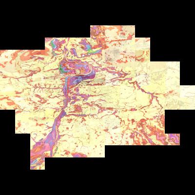 Inženýrskogeologické mapy B - mapa mocností pokryvných útvarů