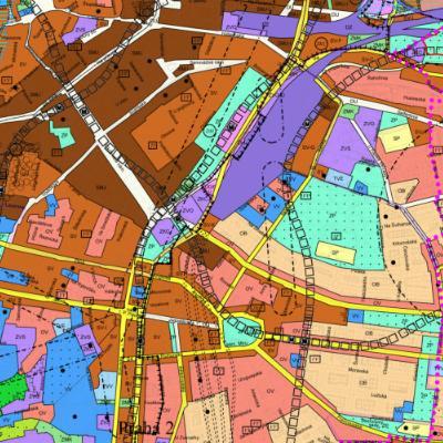 Platný územní plán - výkres č. 4